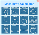 Machine shop math calculator can be purchased separately