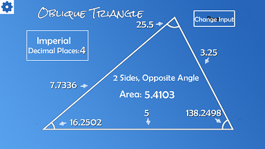 Oblique triangle calculator