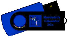 Machinist's Calculator on a flash drive